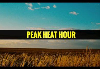 Peak Heat Hour Southern American Script