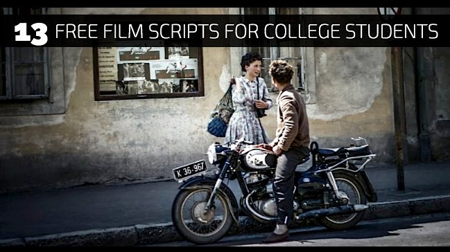 13 Free Film Scripts for College Students