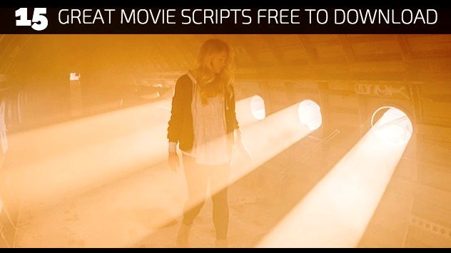 15 Great Movie Scripts Free To Download