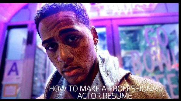 How To Make A Professional Actor Resume